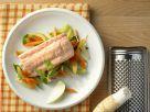 Gedämpfter Lachs mit Gemüse Rezept