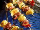 Geflügel-Kartoffelspieße mit Gemüse Rezept