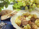Geflügelleber mit Trauben Rezept