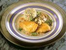 Geflügelschnitzel mit Pilzen und Roquefortcreme Rezept