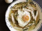 Geflügelsuppe mit verlorenem Ei Rezept