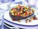 Gefüllte Auberginen mit Mango-Gemüse Rezept