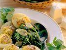 Gefüllte Eier mit Spinat Rezept