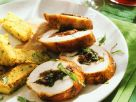 Gefüllte Hähnchenbrust mit Polentaschnitten Rezept