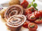 Gefüllte Kalbsröllchen mit gebratenem Tomatensalat Rezept