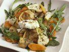 Gefüllte Nudeln mit Artischocken, Karotten, Rucola und Ziegenkäse Rezept