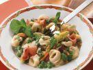 Gefüllte Nudeln mit Gemüse und Schinken Rezept
