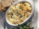 Gefüllte Nudeln mit Käse gratiniert Rezept