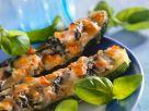 Gefüllte Zucchini mit Spinat Rezept