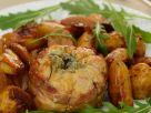 Gefüllter Kalbsbraten mit Kartoffeln Rezept