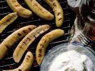 Gegrillte Bananen mit Sahne Rezept