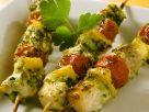 Gegrillte Fisch-Gemüsespieße Rezept