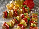 Gegrillte Fleisch-Gemüsespieße Rezept