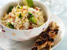 Gegrillte Hähnchenspieße mit Reis Rezept