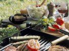 Gegrillte Koteletts mit Gemüse Rezept
