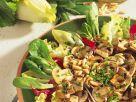 Gegrillte Pilze auf Blattsalat Rezept