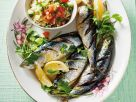 Gegrillte Sardinen mit Couscoussalat Rezept