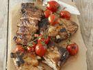 Gegrillte Schweinekarrees mit Kirschtomaten Rezept
