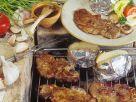 Gegrillte Schweinesteaks mif Kartoffeln Rezept