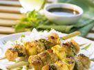 Gegrillte Tofu-Fruchtspieße Rezept