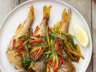Gegrillter Barsch mit Gemüse-Julienne Rezept