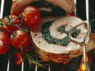Gegrillter Schweinerücken mit Füllung Rezept