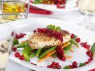 Gegrilltes Hähnchenfilet mit Gemüse und Johannisbeeren Rezept