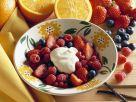 Gemischte Beeren mit Orangencreme Rezept