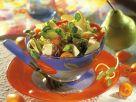 Gemischter Salat mit Käse und Birne Rezept