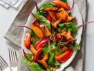 Gemischter Salat mit Pfirsich und Pilzen Rezept