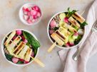 Gemüse-Buchweizen-Bowl mit Spargel-Spießen Rezept