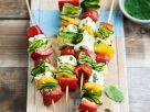 Gemüse-Käsespieße Rezept