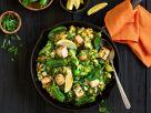 Grüne Paella mit Tofu, Bratpaprika, Erbsen und Zucchini Rezept