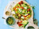 Gemüse-Pizza mit Dinkel-Vollkornteig Rezept