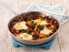 Gemüsepfanne mit Ei gebacken Rezept