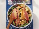 Gemüsepfanne mit Fisch Rezept