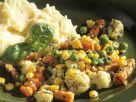 Gemüsepfanne mit Püree Rezept