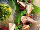 Gemüsesalat mit Thunfisch und Kalbfleisch Rezept