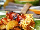 Gemüsespieße mit Kartoffeln Rezept