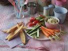 Gemüsesticks mit Auberginencreme Rezept