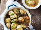 Gemüsesuppe mit Hefeklößchen Rezept