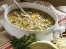 Gemüsesuppe mit Hirse Rezept