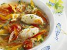 Gemüsesuppe mit Stockfischnockerln Rezept