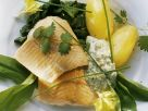 Geräuchertes Lachsforellenfilet mit Bärlauch Rezept