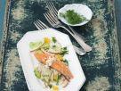 Geräuchertes Saiblingsfilet mit Apfelsalat Rezept