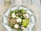 Gersten-Reis-Salat mit Apfel und Ziegenfrischkäse Rezept