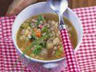 Gersten-Speck-Suppe Rezept