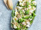 Gerstensalat mit Erbsen und Mozzarella Rezept