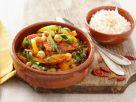 Geschmorte Paprika mit Kichererbsen und Tomaten Rezept