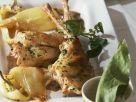 Geschmortes Kaninchen mit Kräutern dazu Paprika Rezept